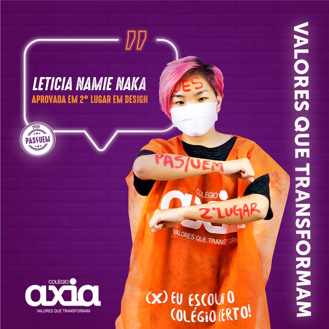 Leticia Namie Naka – 2º Design UEM