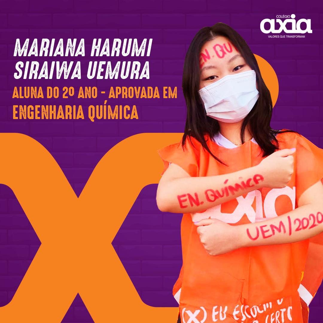 Mariana Harumi Siraiwa Uemura – 2º Engenharia Química UEM