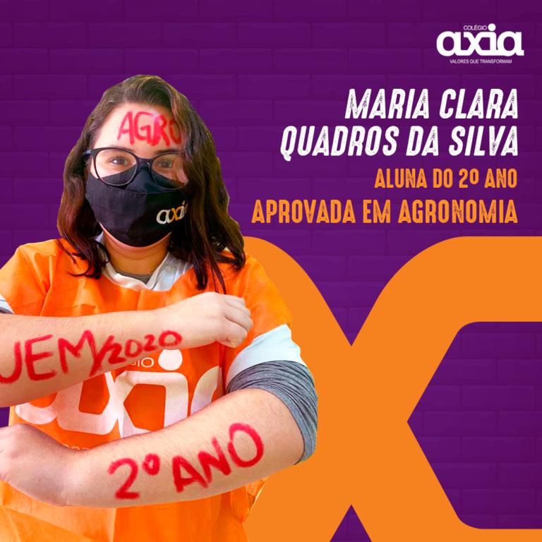 Maria Clara Quadros Da Silva – 2º Agronomia UEM