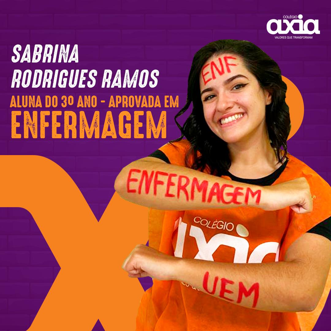 Sabrina Rodrigues Ramos – 3º Enfermagem UEM
