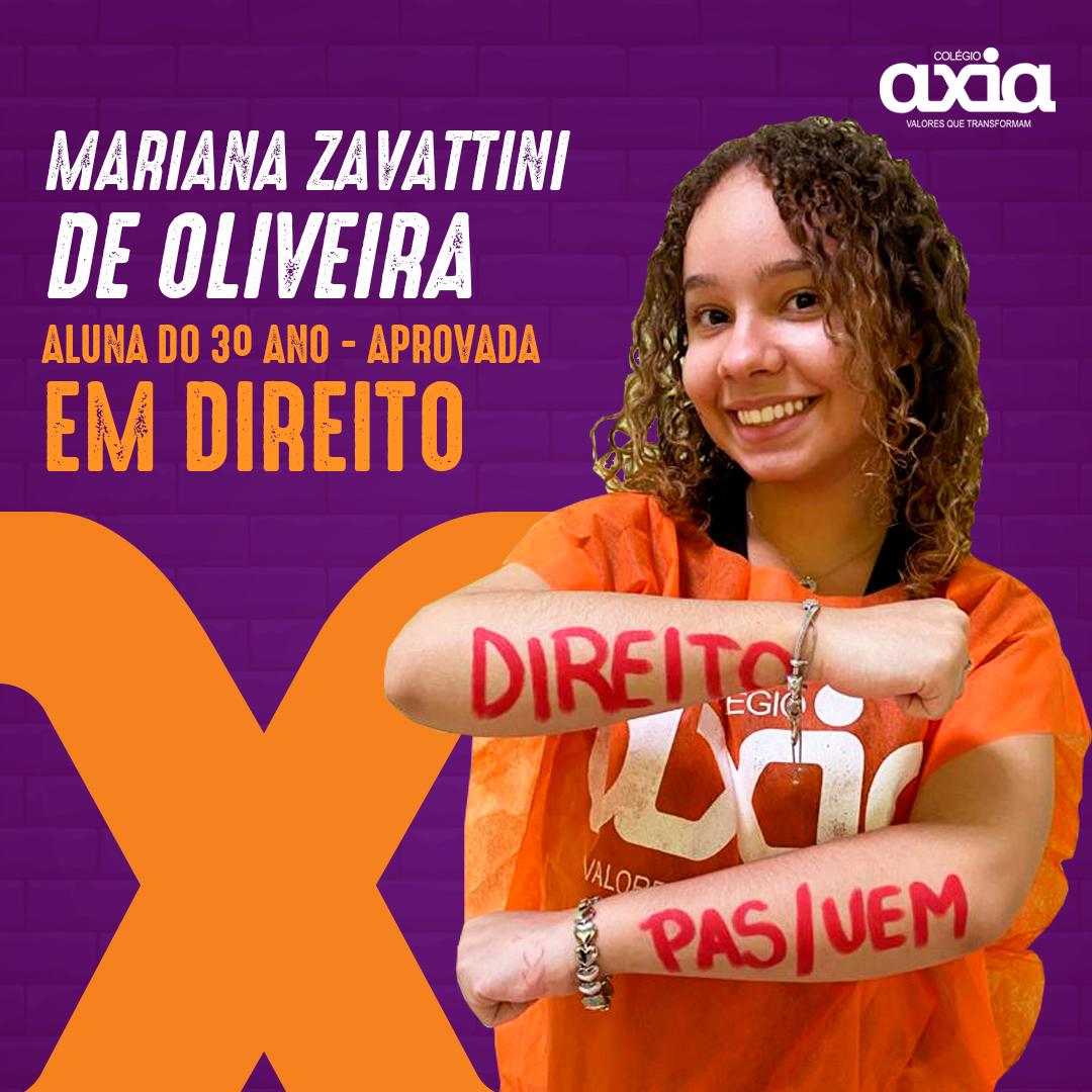 Mariana Zavattini De Oliveira – 3º Direito UEM