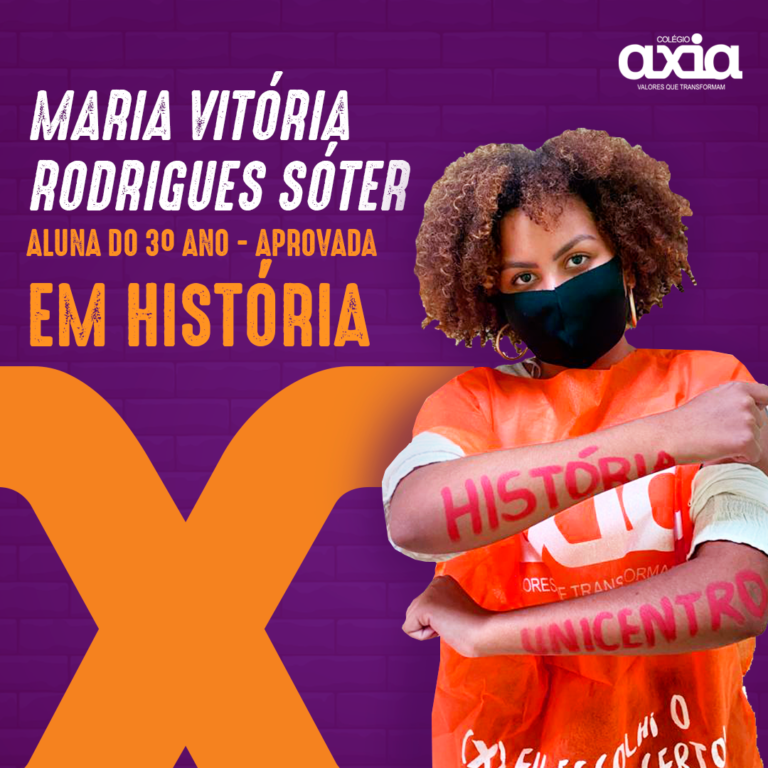 Maria Vitória Rodrigues Sóter – 3º História UNICENTRO