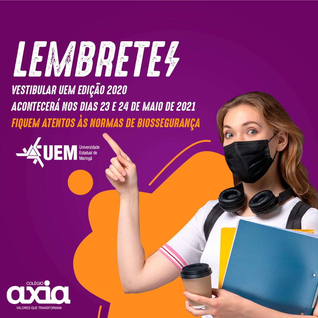 #LEMBRETE Vestibular UEM Edição 2020