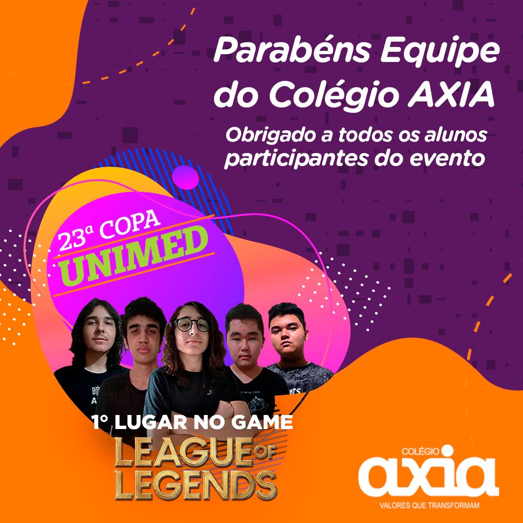 23ª COPA UNIMED – Conquistamos o 1º lugar na modalidade em grupo do game LOL – League Of Leagends